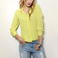 New Trendy Women's Long Sleeve Loose Chiffon Shirt Casual Soft Ladies Vintag Business Clothing Blouses Blouse Tee Shirt Tops