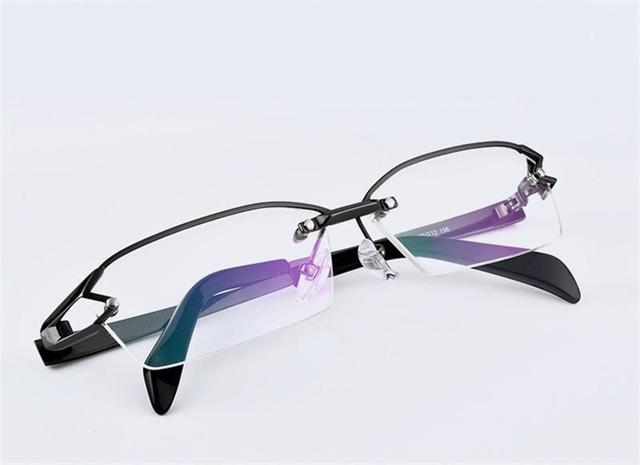 Bril Met Licht : Top kwaliteit mannen bijziendheid bril optische pure titanium