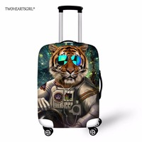 TWOHEARTSGIRL Cool Animal Print Travel Accessories Protective Luggage Cover For18 30Inch Trolley Suitcase Elastic Dust Rain