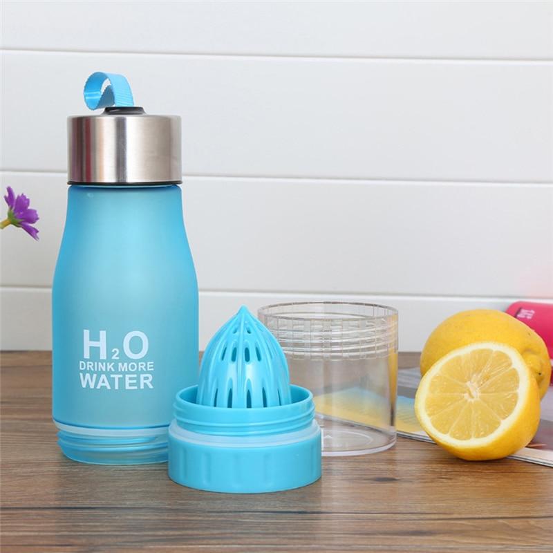 Vogvigo 650ml H20 Lemon Juice Water Bottle Fruit Infusion Bottle Infuser Drink Outdoor Sports Portable Water Kettle Gift