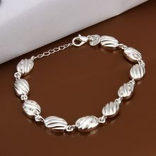 Fina del verano del estilo de plata chapada pulsera 925-sterling-silver joyería pulseras de cadena de diamante para mujeres hombres SB330