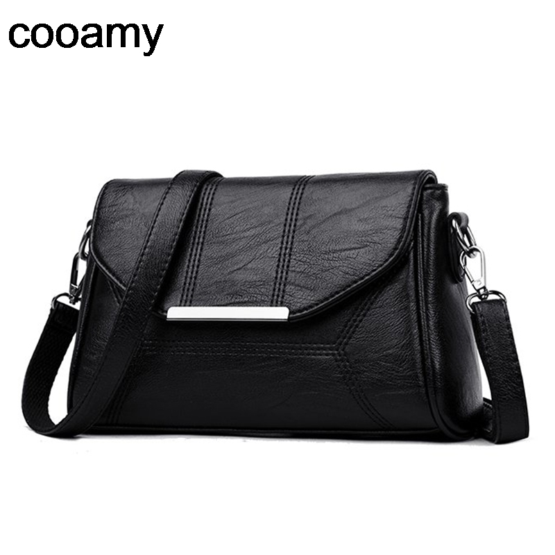 Women Messenger Bags Ladies Crossbody Bags For Girls  Pu Leather Handbags Designer Women Shoulder Bags High Quality Solid
