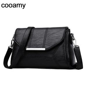 Image 1 - Women Messenger Bags ladies Crossbody Bags For Girls  Pu Leather Handbags Designer Women Shoulder Bags High Quality Solid