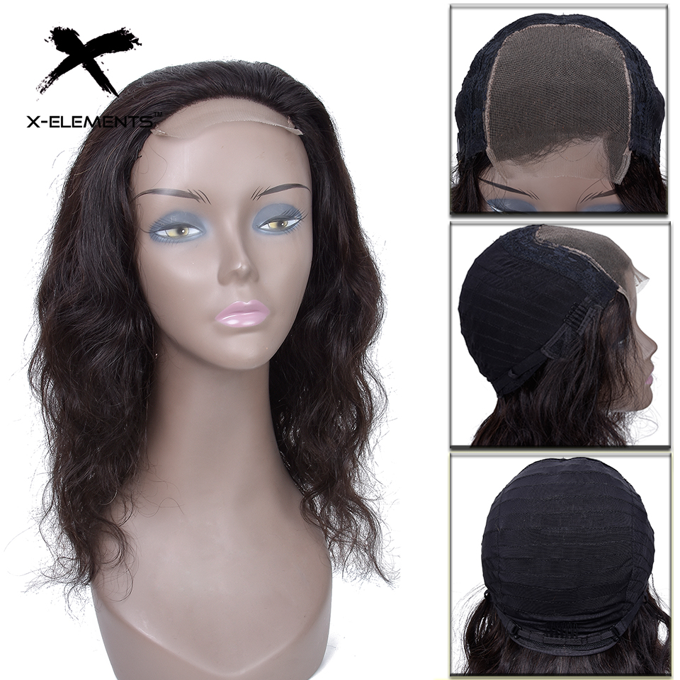 4x4 Lace Closure Wig Remy Hair Peruvian Body Wave Lace Wig 150 Density Lace Front Human