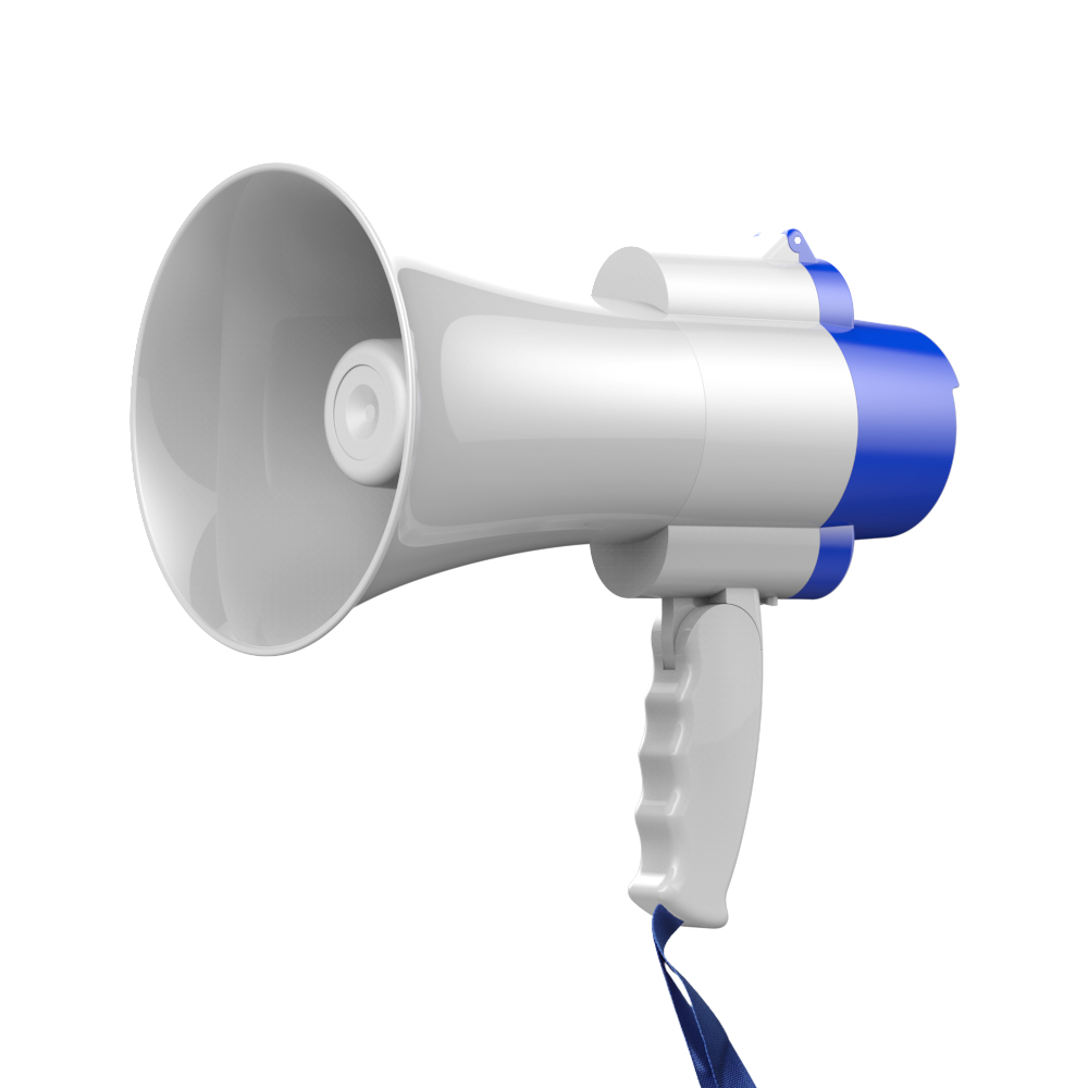 NBX High Power Portable Hand Megaphone Peddle Trumpets Lithium Battery Loudspeaker Recording Horn Tour Guide Speakers Loud