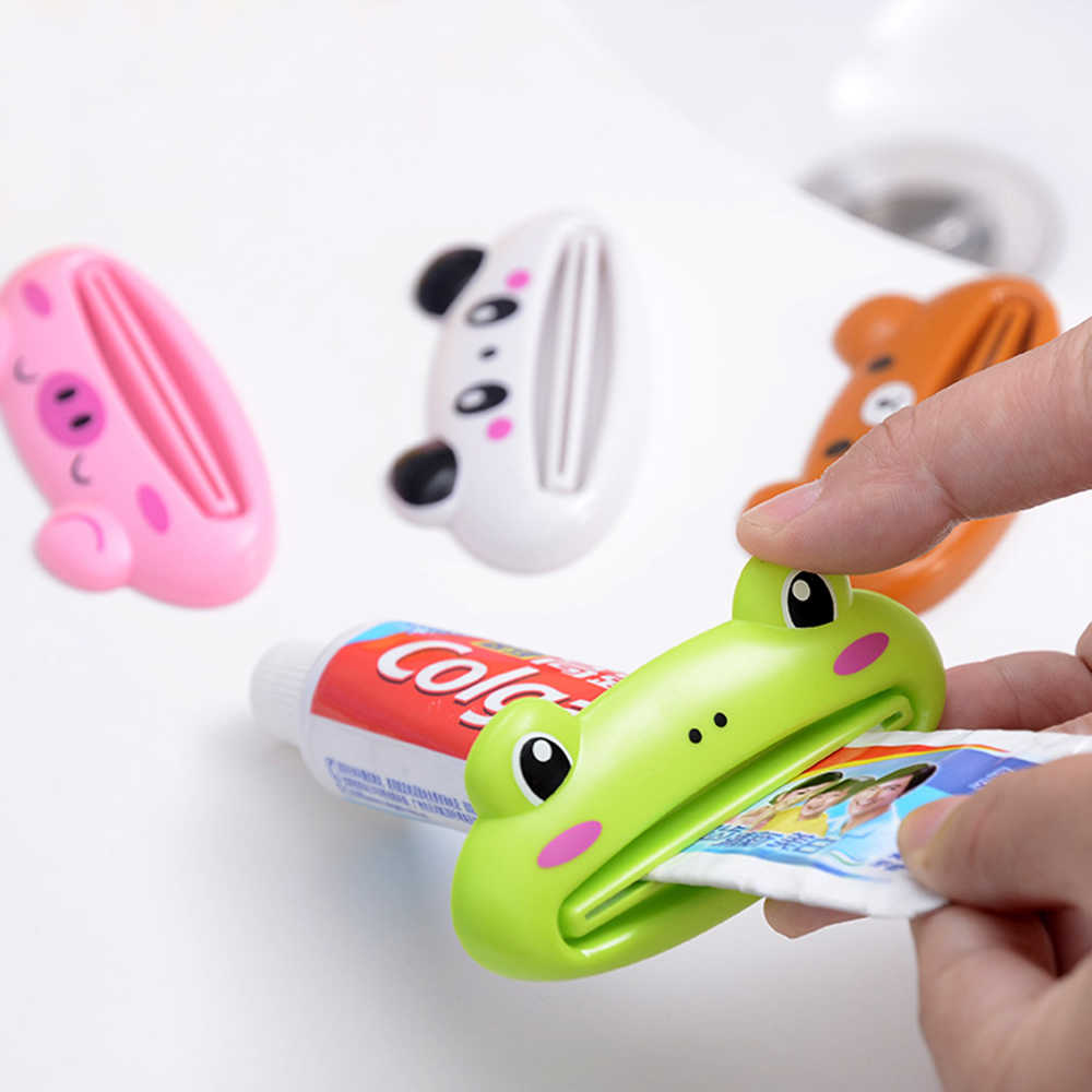 1 pc Cute Animal Plastic Toothpaste Squeezer Bath Toothbrush Holder Tube Rolling Holder Squeezer Toothpaste Dispenser Tool