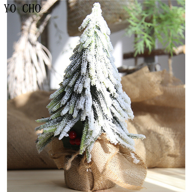 YO CHO Eco friendly PVC Artificial Plant Berry Christmas Snow Tree Fake Plant For Home Garden Party Decor DIY Xmas Decoration