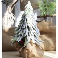 YO CHO Eco friendly PVC Artificial Plant Berry Christmas Snow Tree Fake Plant For Home Garden Party Decor DIY Xmas Decoration