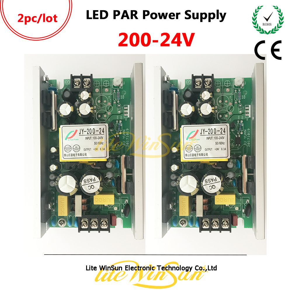 цены Litewinsune Freeship 200W DC24V LED PAR Can Light Power Board Supplier Waterproof Outdoor LED Par