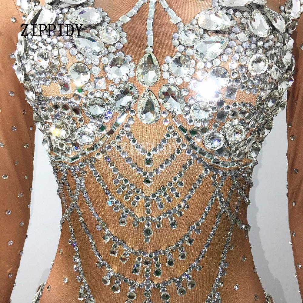 New Salopette Glisten Usure Barboteuses Costume Pierres Outfit Body Célébrer Grand Occasion Anniversaire Bling Femmes Cristaux Diamants qErdnxq