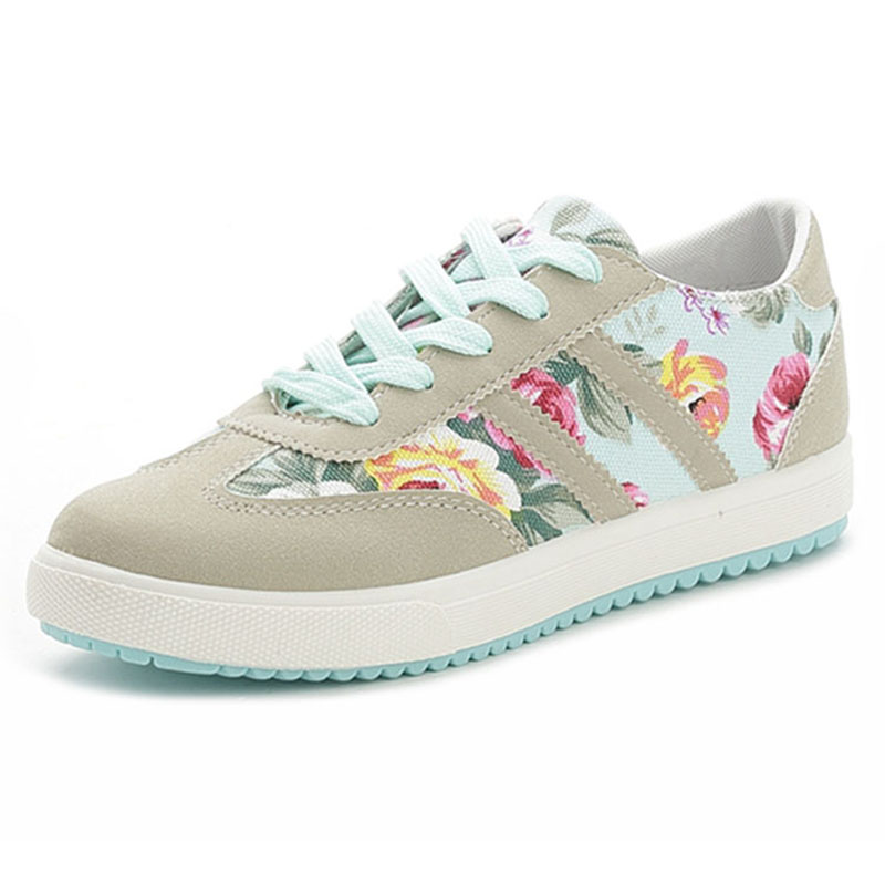 Women Flats Canvas Lace-up  Casual Shoes Women White Shoes Mixed Colors Spring Summer Flats Women Footwear Size renben women canvas shoes 2017 fashion flats women casual white shoes breathable canvas lace up candy colors shoes 6e06