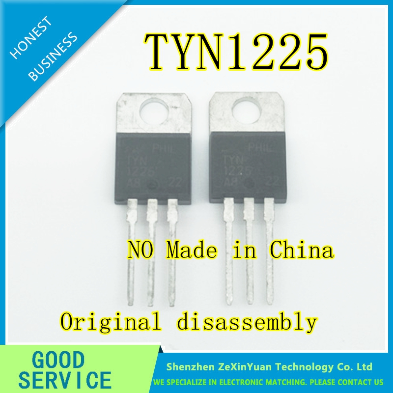 50PCS/LOT Original Disassembly TYN1225 TO-220 Unidirectional Thyristor Large Chip