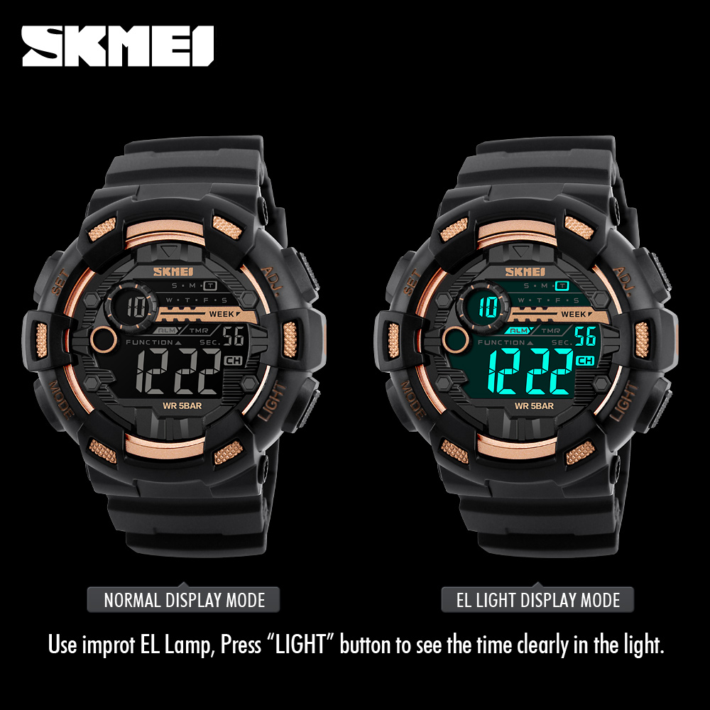 Faithful Men Sports Digital Watch Military Electronic Wrist Watch Solar Power Dual Time Display Water Resistant Watch Relojes Digital Watches