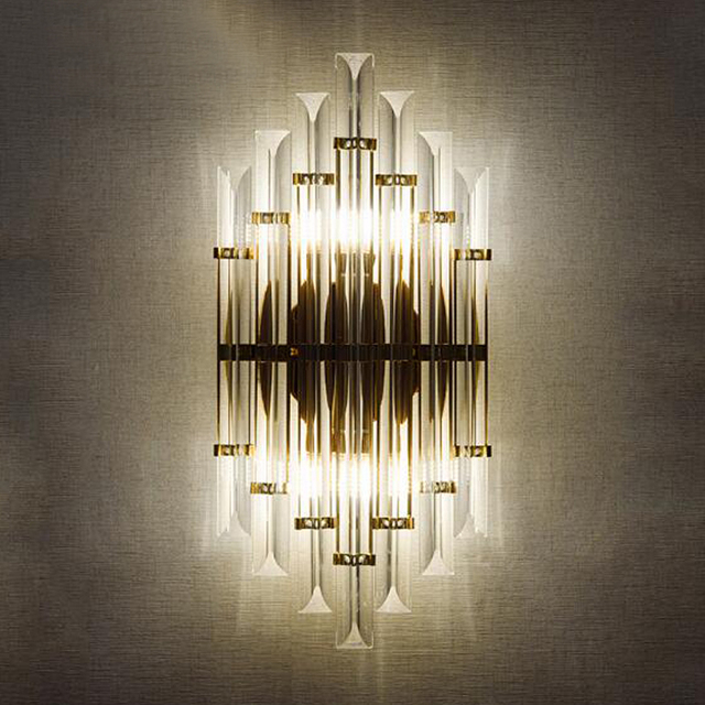 Modern LED Crystal Wall Sconces Bedroom Light Luminaire Home ...