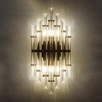 Modern LED Crystal Wall Sconces Bedroom Light Luminaire Home Lighting personalized background bedside wall lamp H50cmD25cm