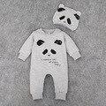Panda Macacão de Bebê Recém-nascido Chapéu + Roupa Set Bebê Ropa Bebe Roupas Meninos Roupas de Bebê Traje de Halloween