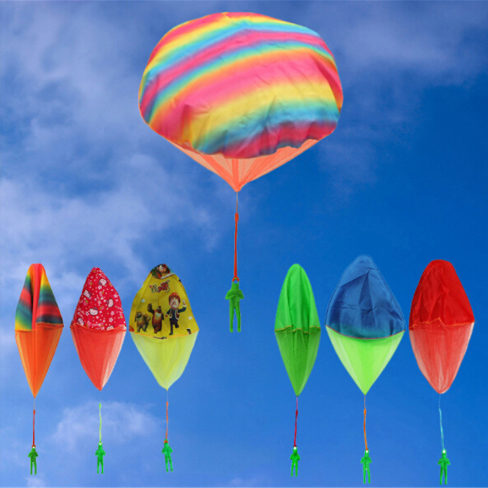 Hand Throwing Kids Mini Play Parachute Toy Soldier Outdoor Sports Childrens Educational Toys High Quality
