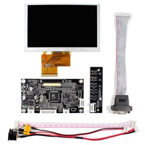 Image 2 - VGA AV LCD denetleyici kurulu ile 5 inç 800x480 VS050T 001A LCD ekran