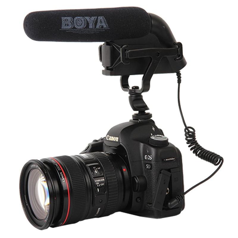 BOYA BY-VM200 Studio Quality On-camera Video Condenser Microphone for Canon Nikon Sony SLR DSLR Camera Camcorder Audio Recording best quality yarmee multi functional condenser studio recording microphone xlr mic yr01