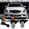 2X Samsung Chip  CAR Turn light For For Infiniti 2009-2013 G G25 G37 DRL  Daytime Running Light &Front Turn Signal All In One