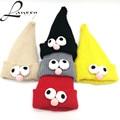 Lanxxy Милые Глаза Шапочки Шляпы для Детей Девочки Мальчики Зимняя Шапка Вязаная Skullies Смешные Шапки для Детей Gorro Шляпки