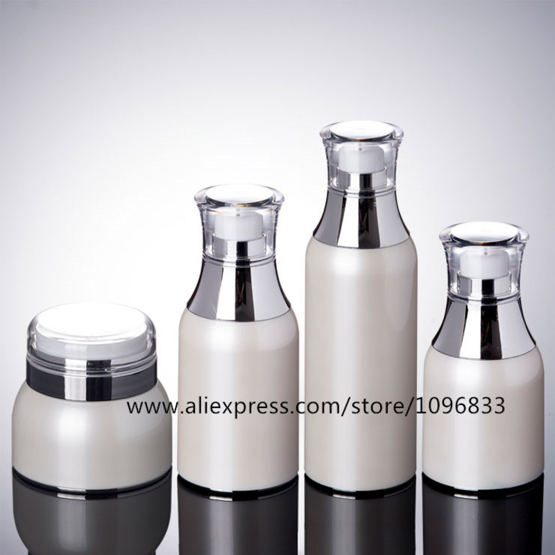 10pcs/Lot Cosmetic Packing Bottles Pearl White Airless Cream Jar 30G 50G Airless Lotion Pump Bottle 30ML 50ML 100ML цена