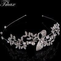 High Quality Beautiful Flower Shape Hair Jewellery Crystal Tiaras Crowns For Womem Wedding Party Wedding Jewelry