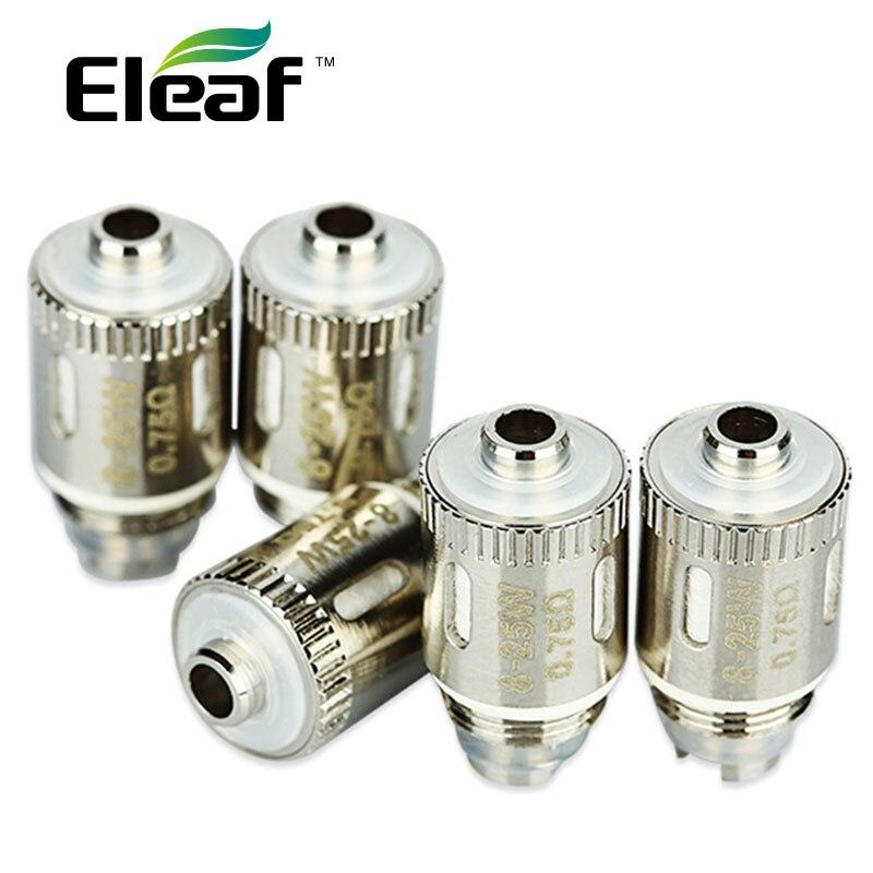 Genuino 5 unids eleaf GS aire 2 atomizador 0.75ohm puro algodón headsfor eleaf gs-air 2 cabeza del atomizador resistencia