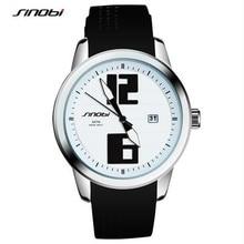 Sinobi relógios das mulheres da marca 2017 esporte relógios preto silicone strap azul amarelo moda auto data quartz relogio masculino f86