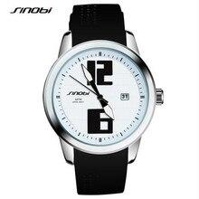 SINOBI Brand Women Watches 2017 Sport Watches Black Silicone Strap Blue Yellow  Fashion Auto Date Quartz Relogio Masculino F86