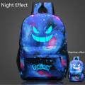 Men's Backpack Pokemon Gengar Backpack Galaxy Luminous Printing Backpack Animation Backpack School Bags for Teenagers Mochila