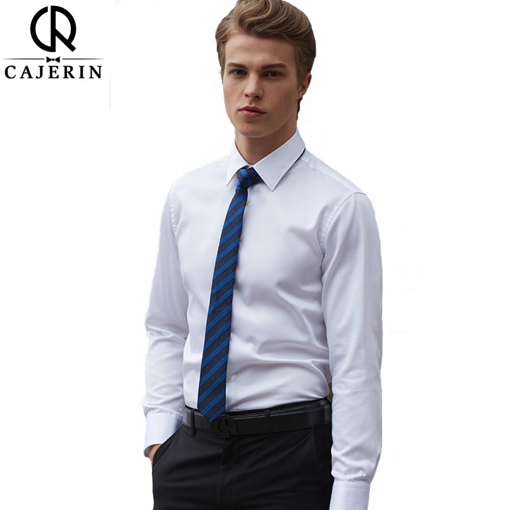 Cajerin 100 cotton men shirt male dress shirts fashion for 100 cotton dress shirt