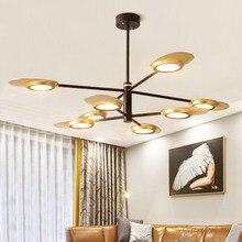 Modern LED Pendant Light Post Fan-style Hanging Lamps Living Room Dining Kitchen Designer Lighting