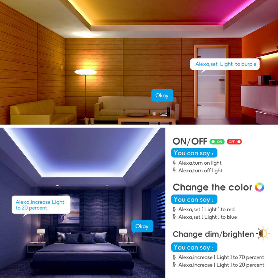 WIFI LED Strip light 10M 5M SMD RGB 2835 5050 diode led tape ribbon Waterproof led tape and remote controller with adapter set