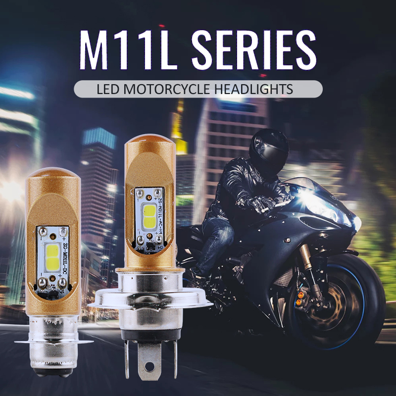 RTD M11L Motorcycle Motorbike DC LED Headlight Scooters ATV Driving Headlamp Bulb H4 HS1 P15D H6 800LM White Color Plug And Play