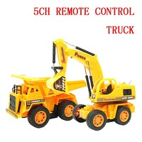 4Ch Remote Control Engineering Truck Excavator Car Rc Car Electric Dumpers Toy 1011 1012