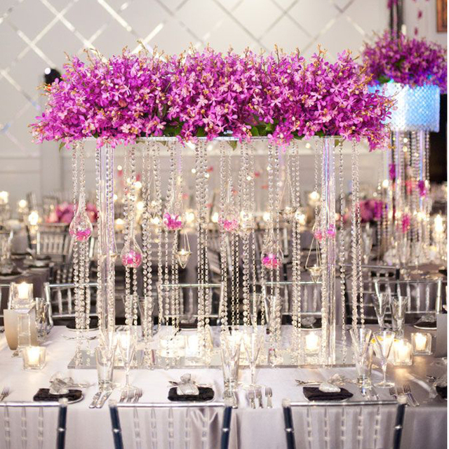 10 Meters 33 Ft Crystal Clear Glass Octagonal Bead Garland Strands Curtains Christmas Hanging Wedding