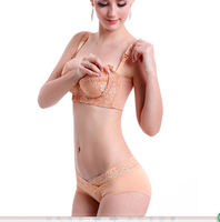 Lace Maternity Nursing Bra Push Up Front Opening Breast Feeding For Pregnant Women Clothes Flower Lace Underwire Anti Sagging