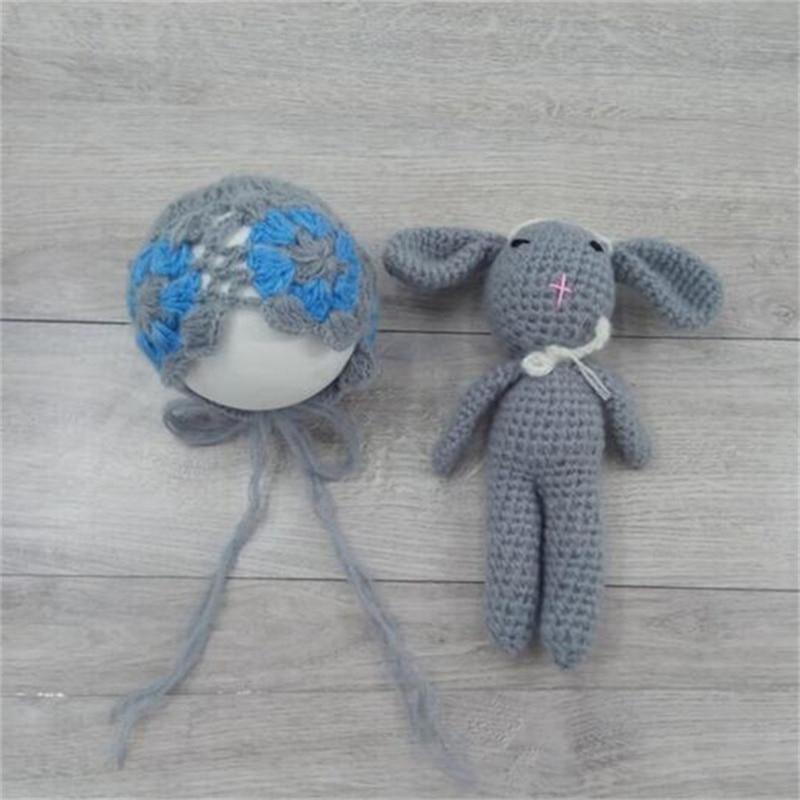 Crochet Baby Hat Bear Handmade Newborn Photography Props Baby Cap Beanie,Infantil Fotografia Accessorie Props Boys Girls NewBorn