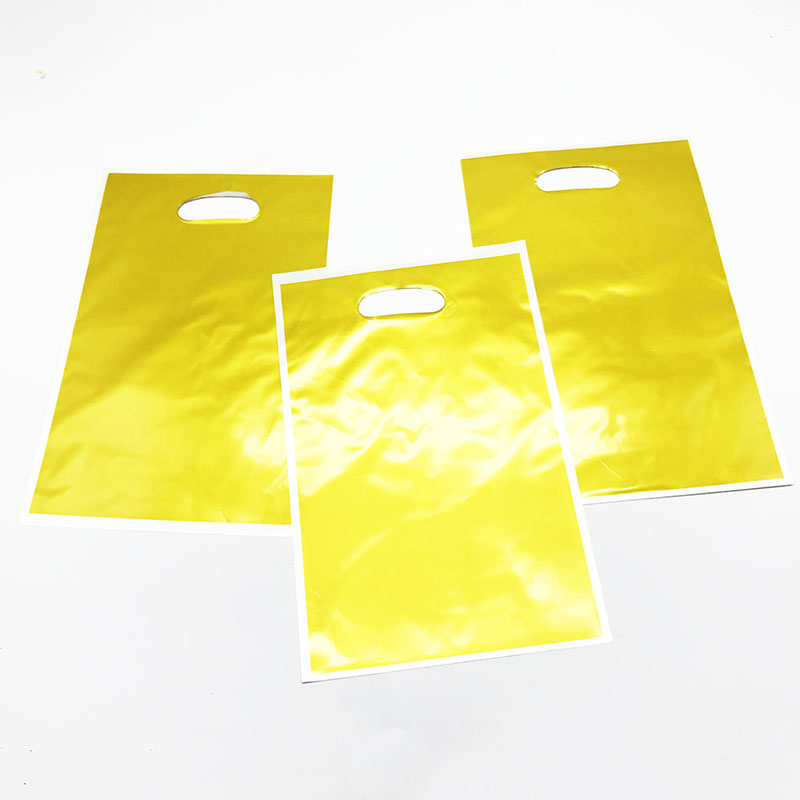 Us 1 36 32 Off 10pcs Lot Plain Color Plastic Gift Bags Gold Yellow Theme Birthday Party Decorations Solid Candy Loot In
