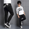Boys pants 2017 spring kids pants casual Harem Pants long pants skull teenager school boys Pantalon 4-15 years children trausers