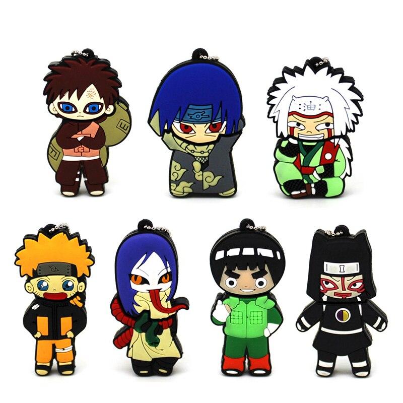Cartoon Naruto USB Flash Drive 64GB Pendrive 4GB 8GB 16GB 32GB Sasuke Memory Stick Gifts Jiraya Uzumaki Naruto Pend Drive U Disk