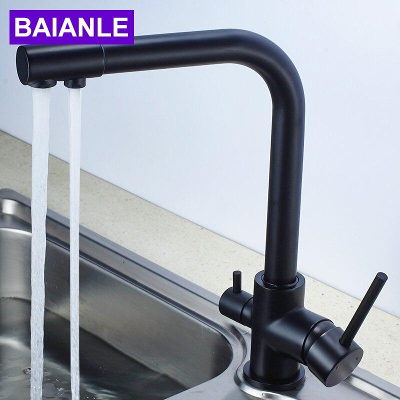 Purificateur deau robinet noir robinet de cuisine monotrou robinet deau mixte robinet circulaire en cuivrePurificateur deau robinet noir robinet de cuisine monotrou robinet deau mixte robinet circulaire en cuivre