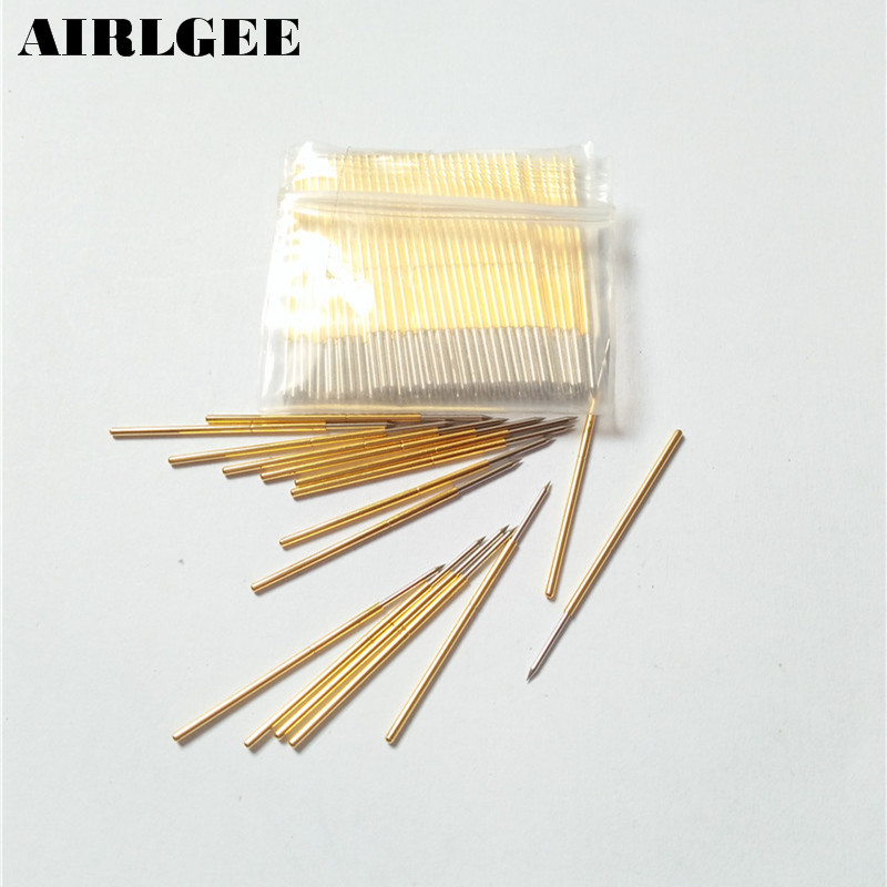 цена на 100 Pieces PL75-B1 0.74mm Spear Tip Spring PCB Testing Contact Probes Pin Free shipping