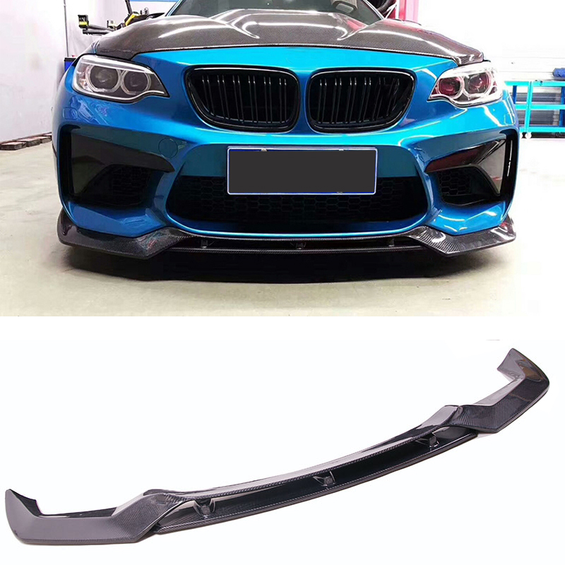 Estilo fibra de Carbono Frente Lip Spoiler Fit For BMW VO-R F87 M2