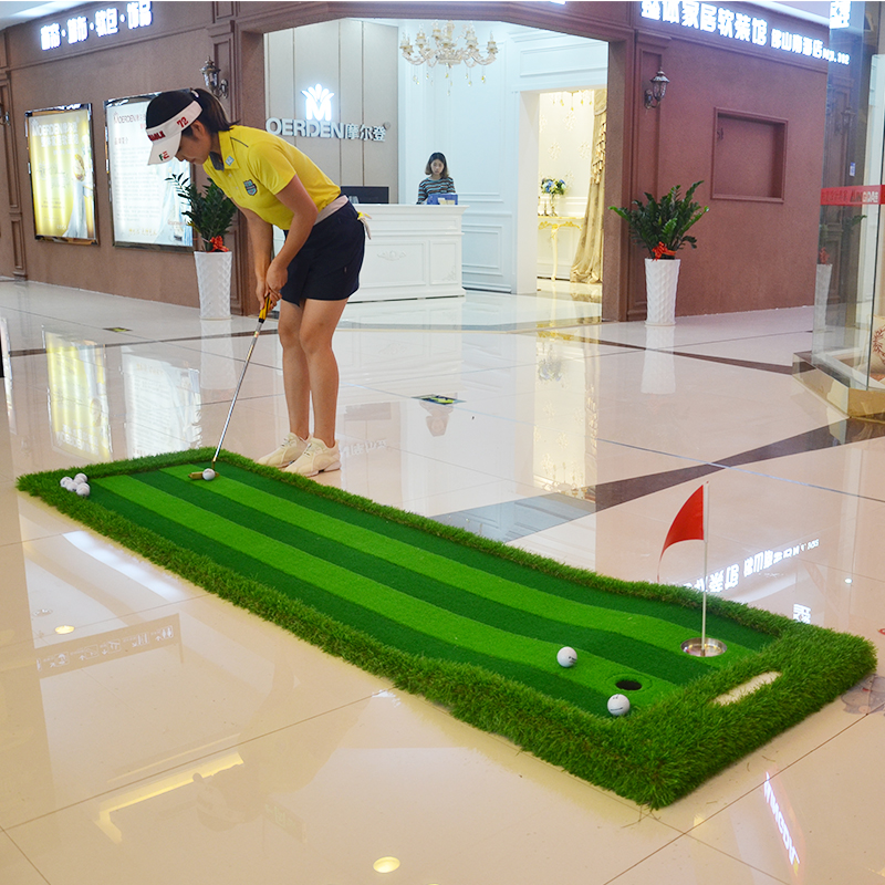 Image 3 - Golf Putting Green Indoor&Outdoor Residential Putting Mat Backyard Portable Golf Practice Putting Trainer Mat for Golfer-in Golf Training Aids from Sports & Entertainment