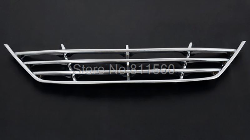 For Hyundai IX35 2010 2011 2012 ABS Chrome Front Lower Grille Around Center Grill Grilles Cover Racing Grills Styling Trims 1pcs racing grills version aluminum alloy car styling refit grille air intake grid radiator grill for kla k5 2012 14