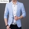 2015 хит продаж мужской стильный повседневный приталенный пиджак одноцветный высококачественный мужской блейзер бесплатная доставка M-6XL