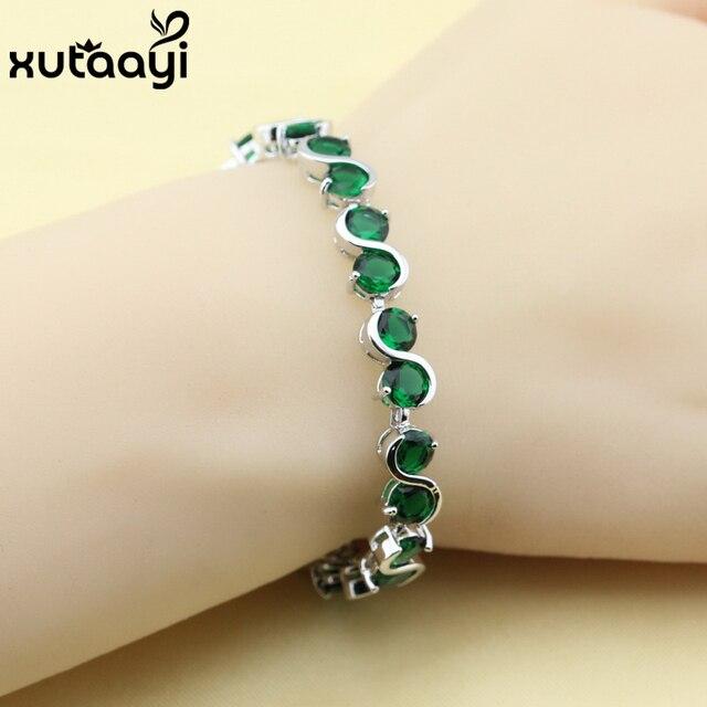 Silber armband mit grunen steinen