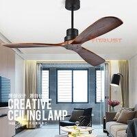 Промышленный винтажный потолочный вентилятор без света деревянные потолочные вентиляторы с пультом дистанционного управления скандинавс